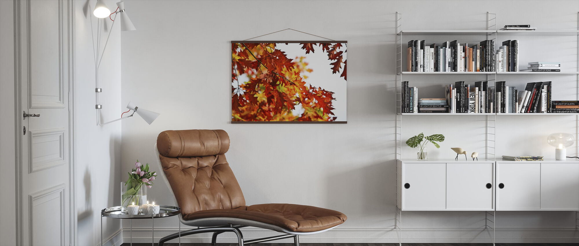 Red and Yellow Leaves - Poster - Living Room