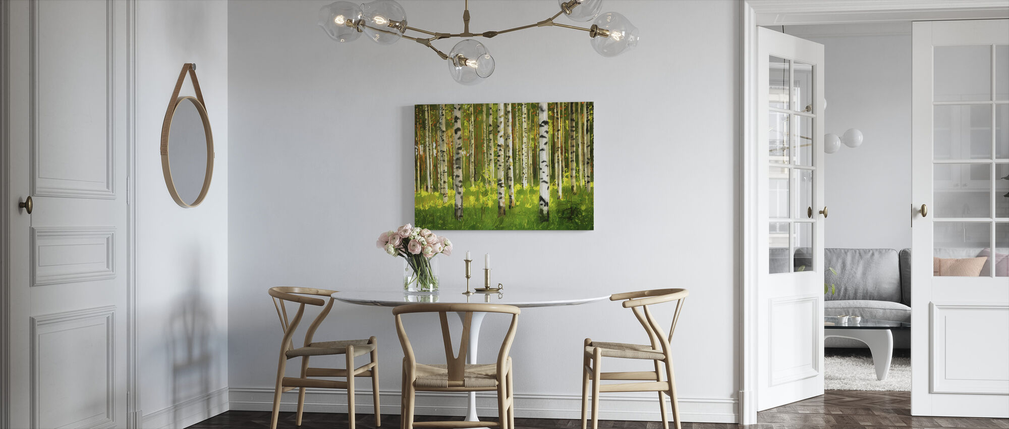 Birch Forest - Oil Painting - Canvas print - Kitchen