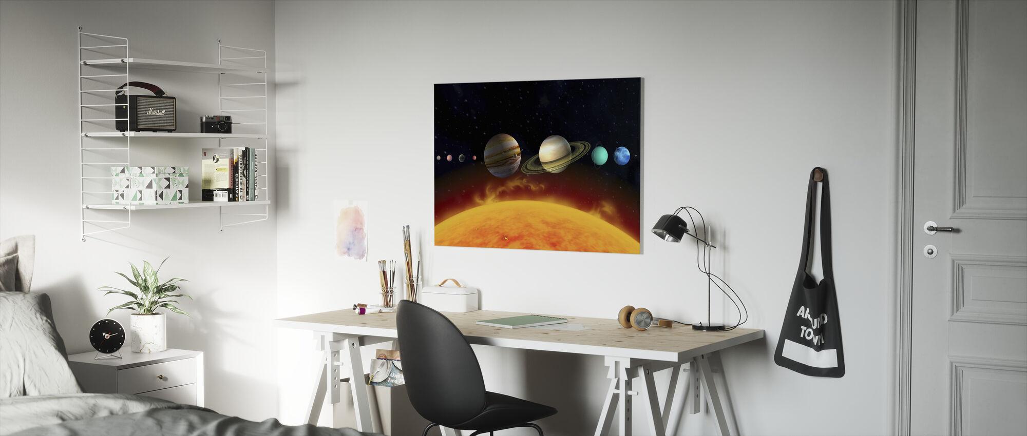 Sol og planeter - Lerretsbilde - Barnerom