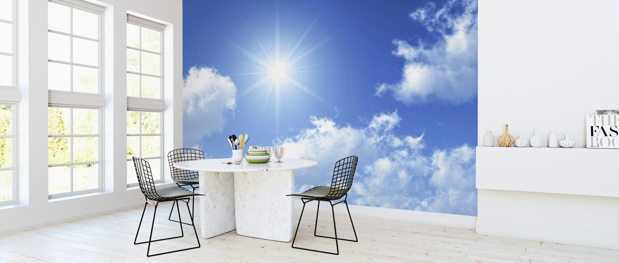 Aurinkoinen taivas - Tapetti - Keittiö