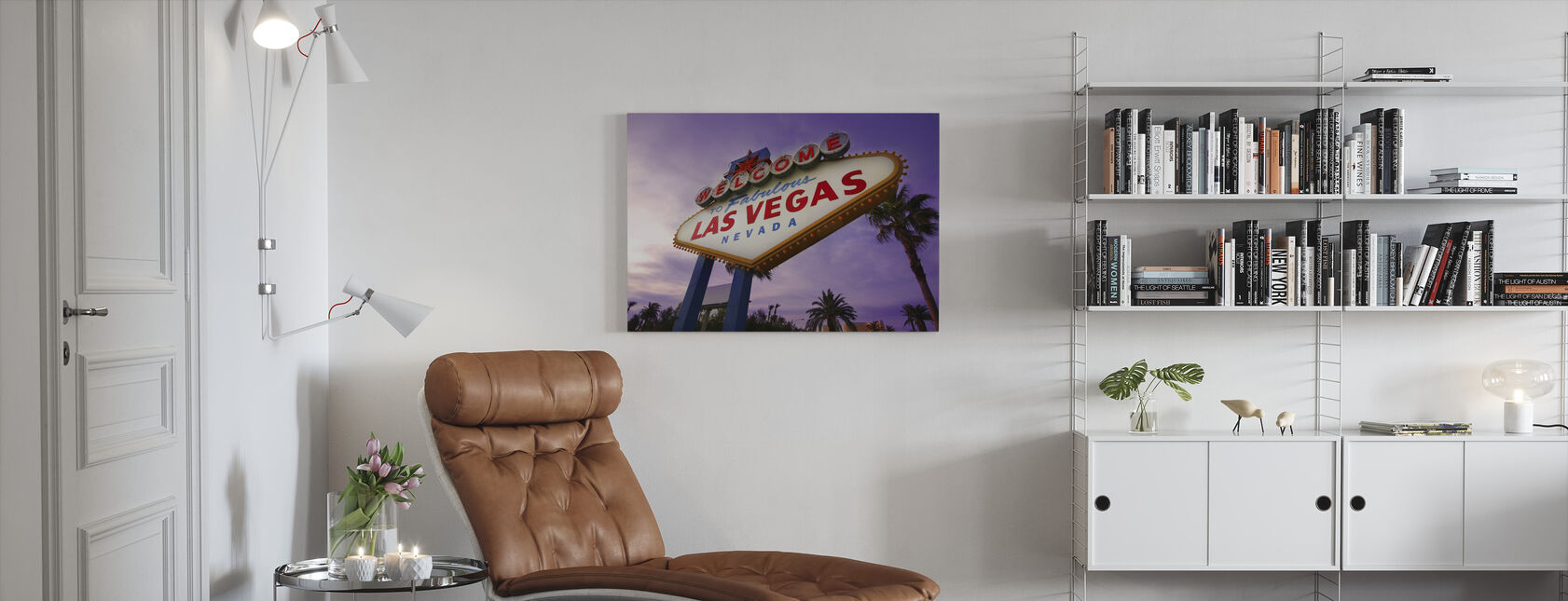 Las Vegas Sign - Canvas print - Woonkamer