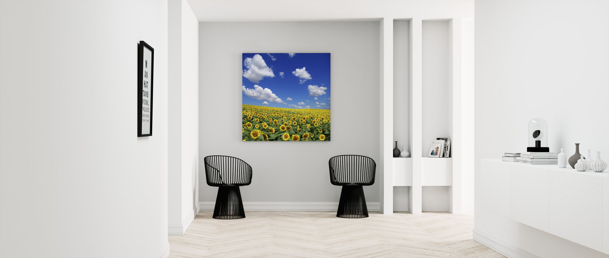 Sunflower Field - Canvas print - Hallway