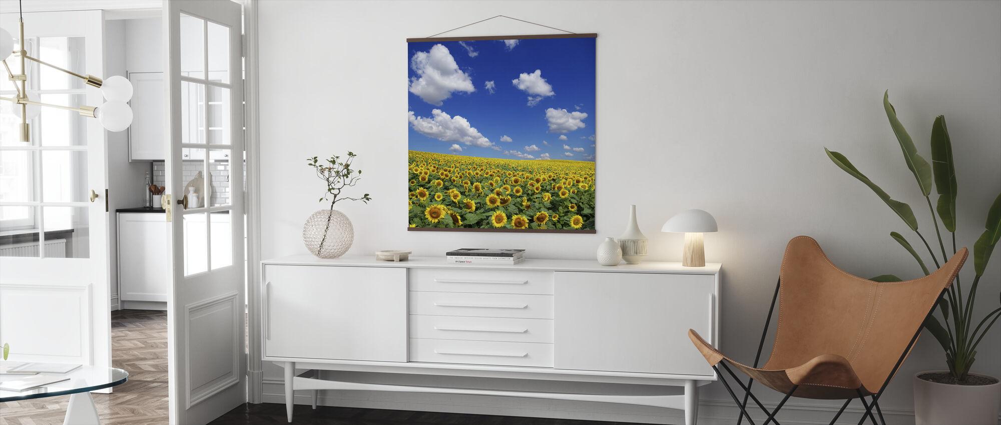 Sunflower Field - Poster - Living Room