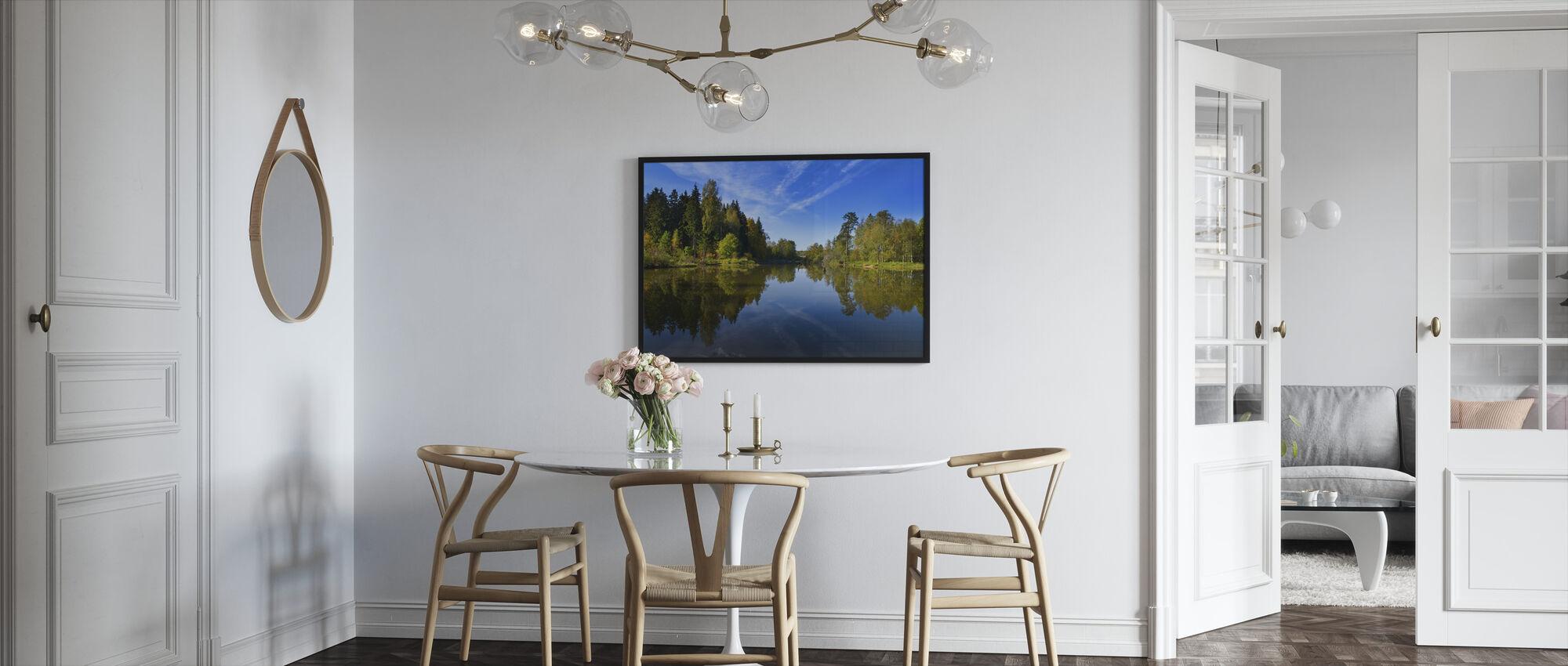 Summer Lake - Framed print - Kitchen