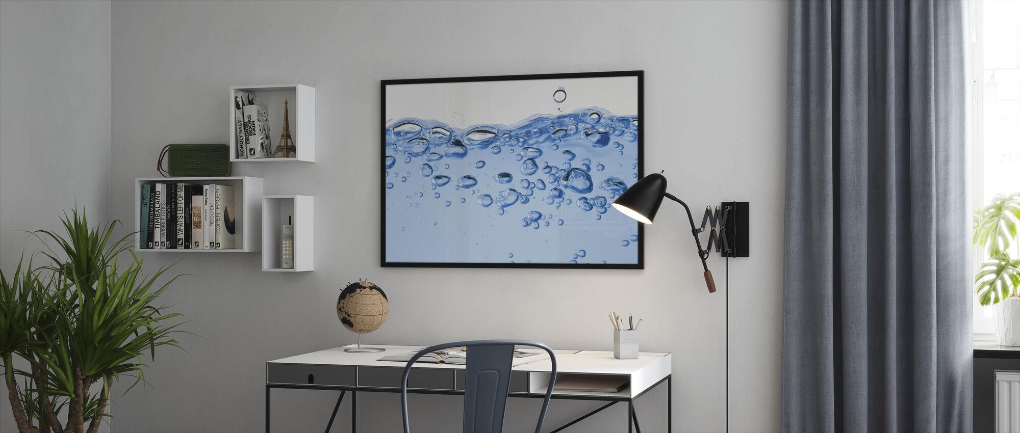 Spatterend water - Ingelijste print - Kantoor