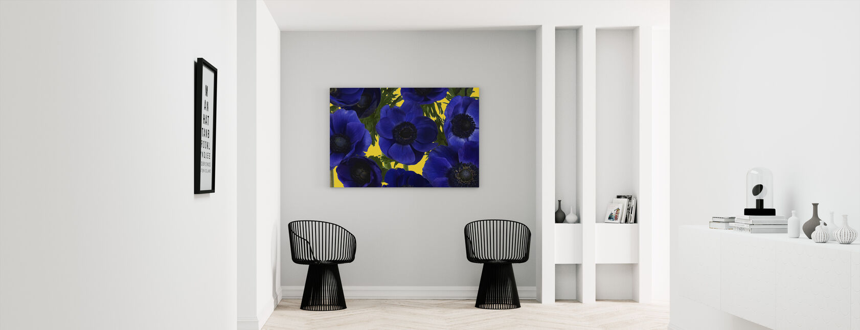Panoramic Flowers - Yellow - Canvas print - Hallway