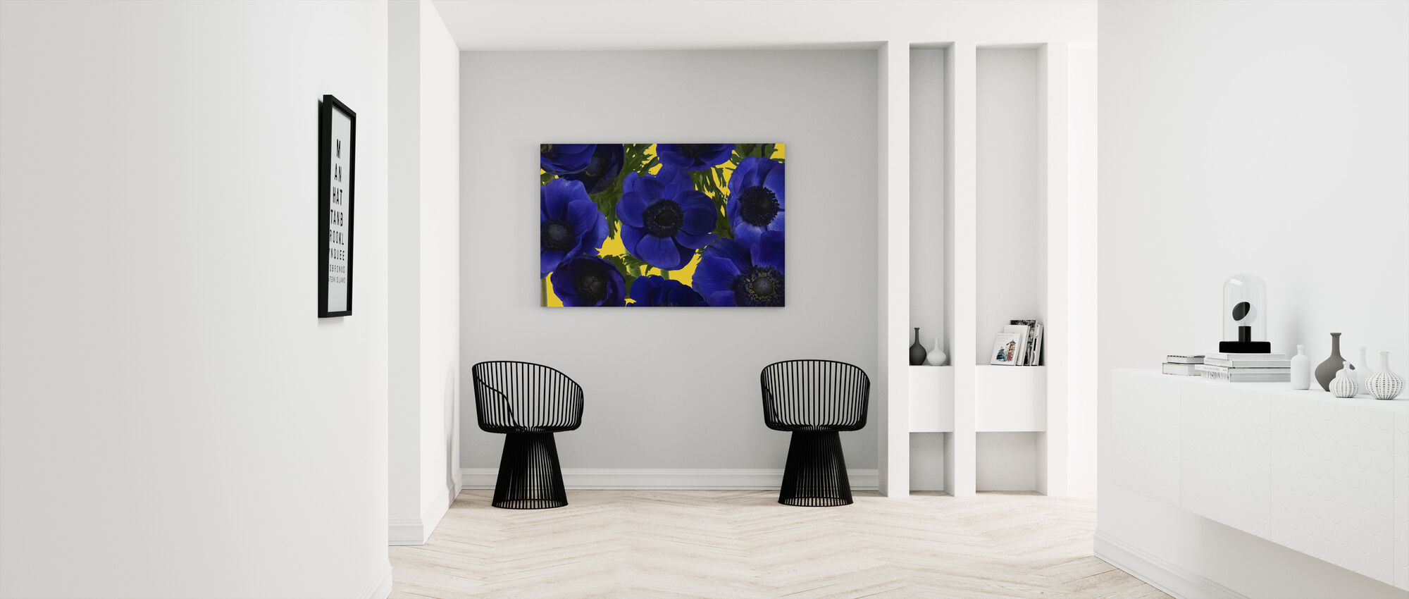 Panoraamanäkymät - Keltainen - Canvastaulu - Aula