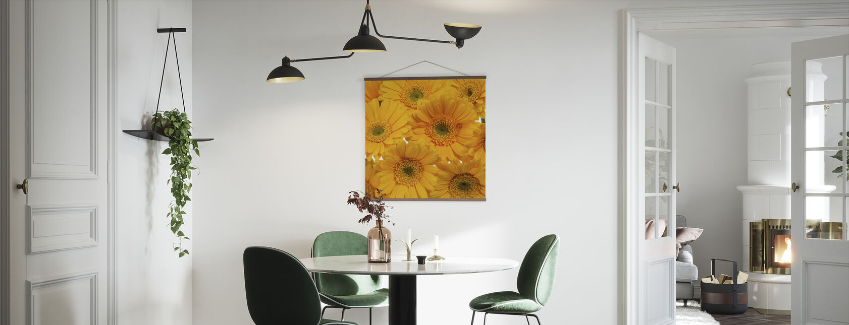 Yellow Gerbera Close Up - Poster - Kitchen