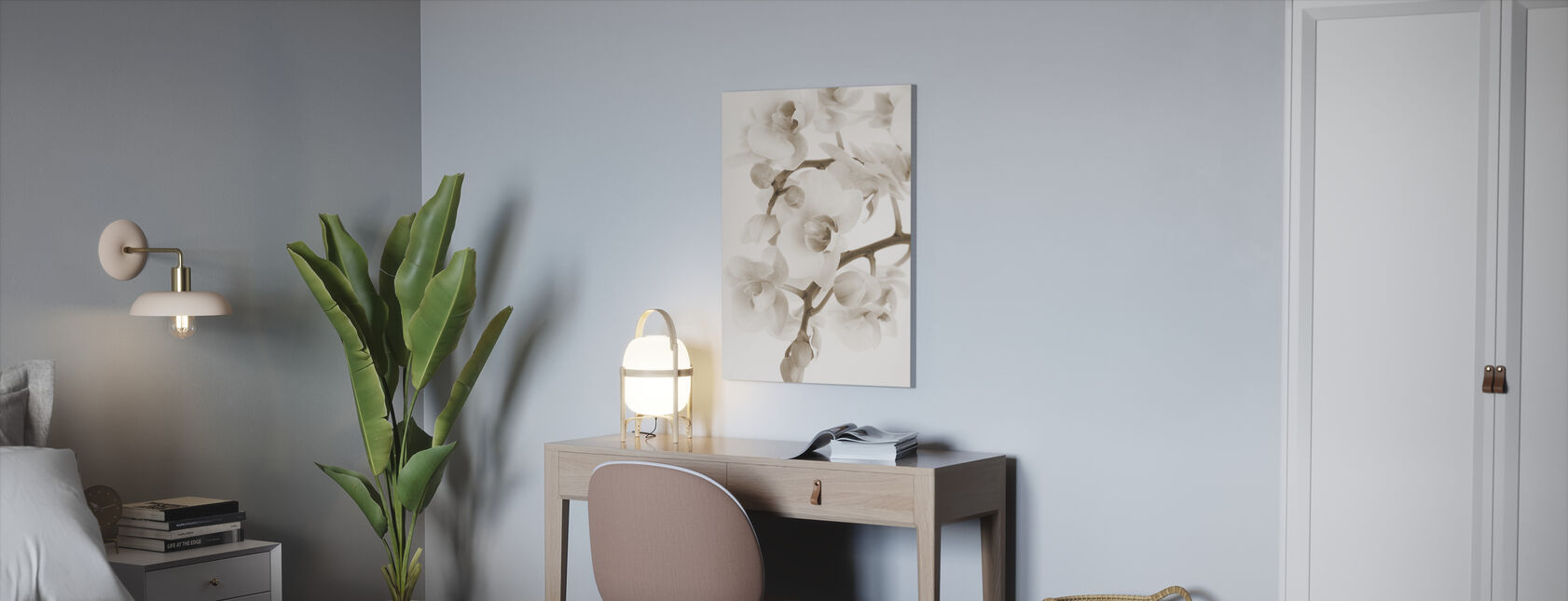 Orchidee - Sepia - Canvas print - Office