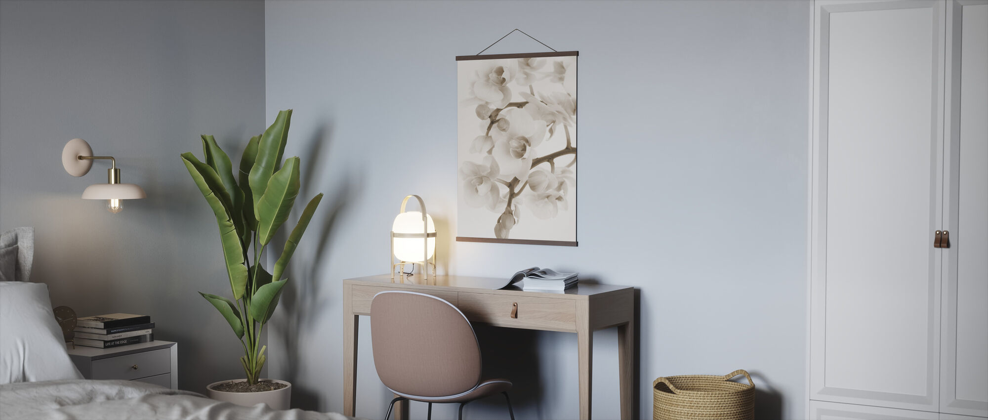Orchidee - Sepia - Poster - Office