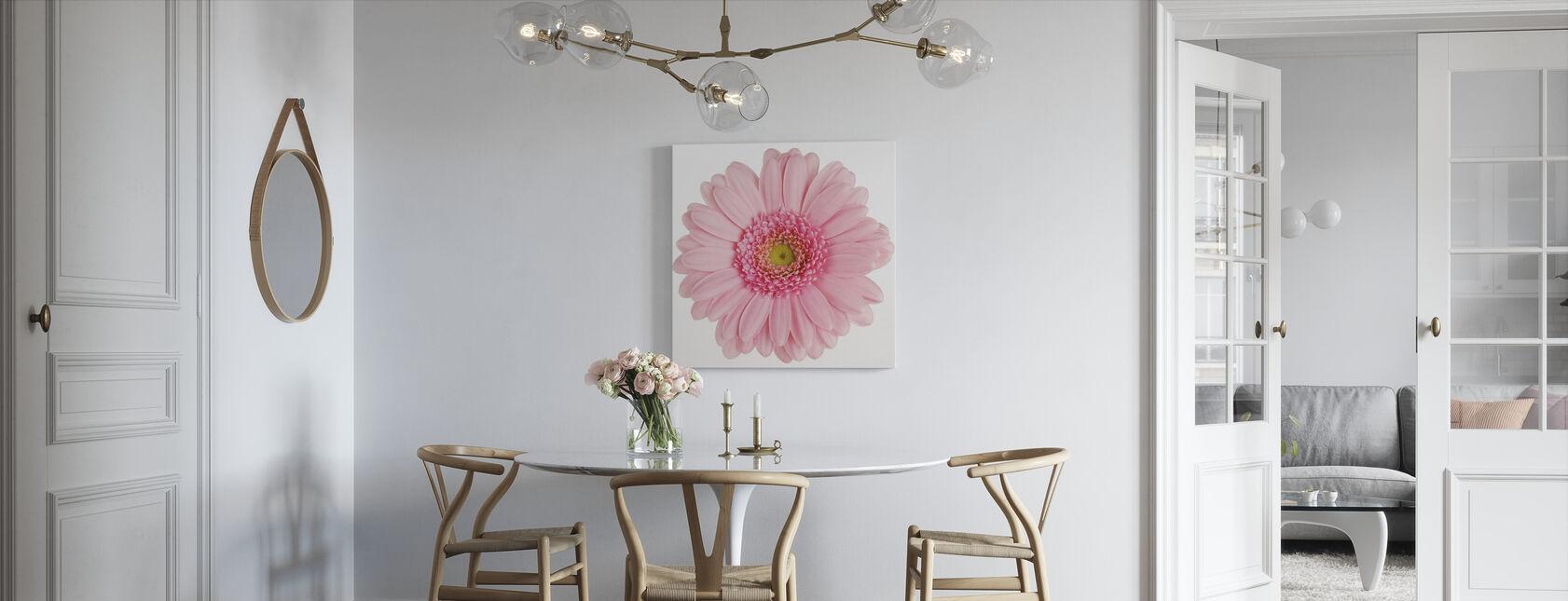 Pink Gerbera White - Canvas print - Kitchen