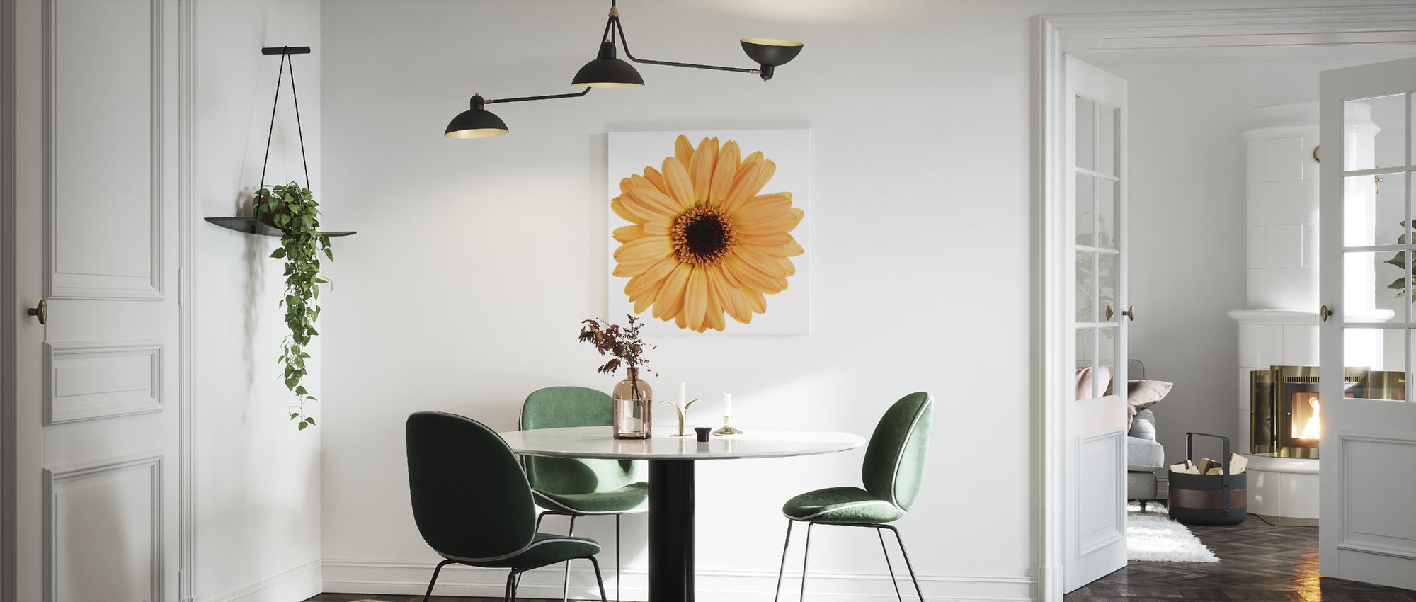 Yellow Gerbera - Canvas print - Kitchen