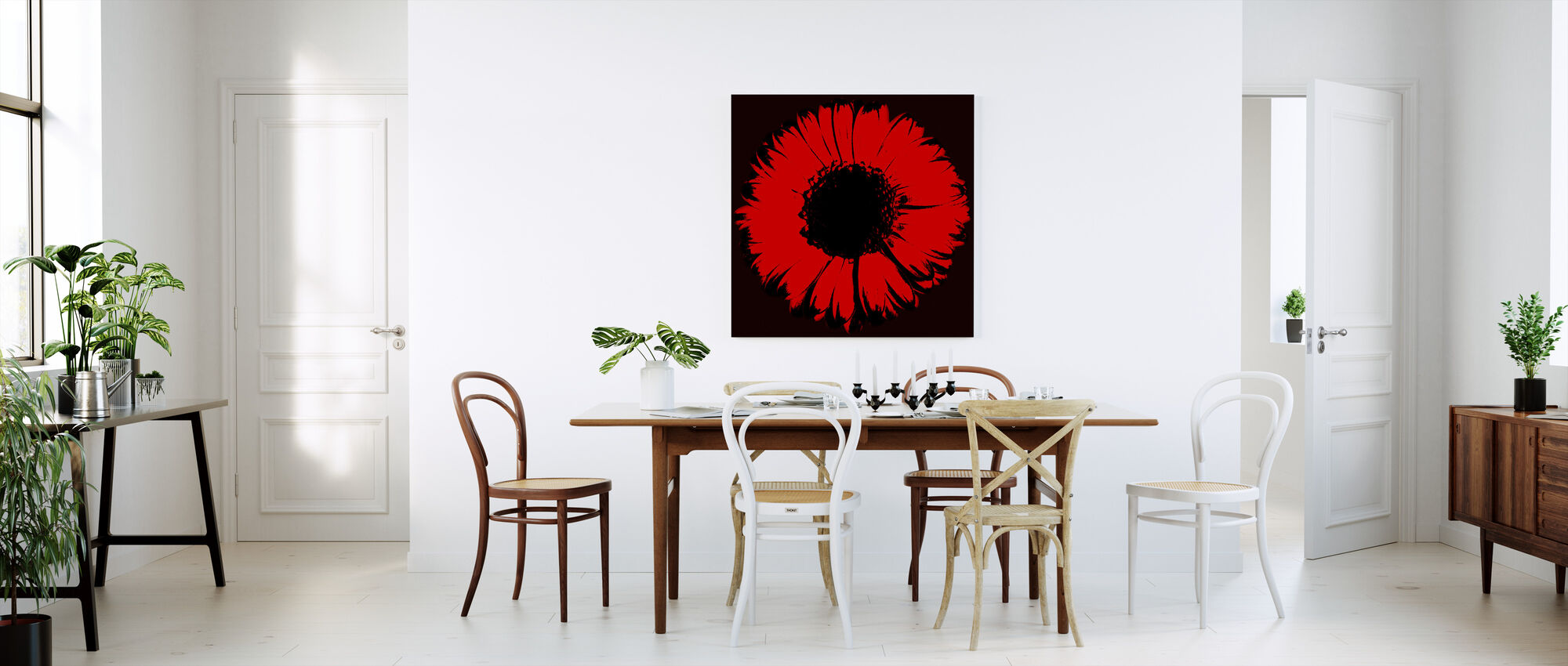 Red Gerbera - Canvas print - Kitchen