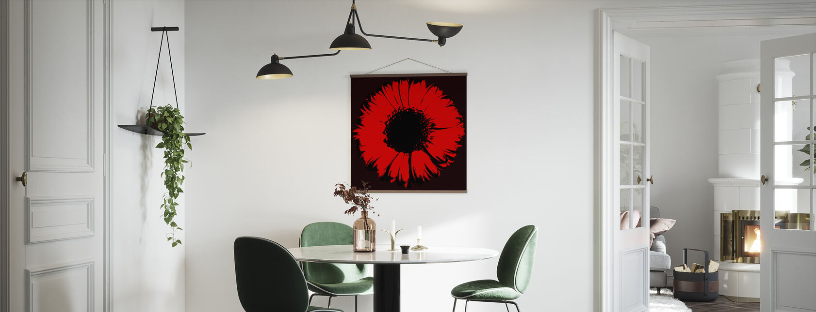 Red Gerbera - Poster - Kitchen