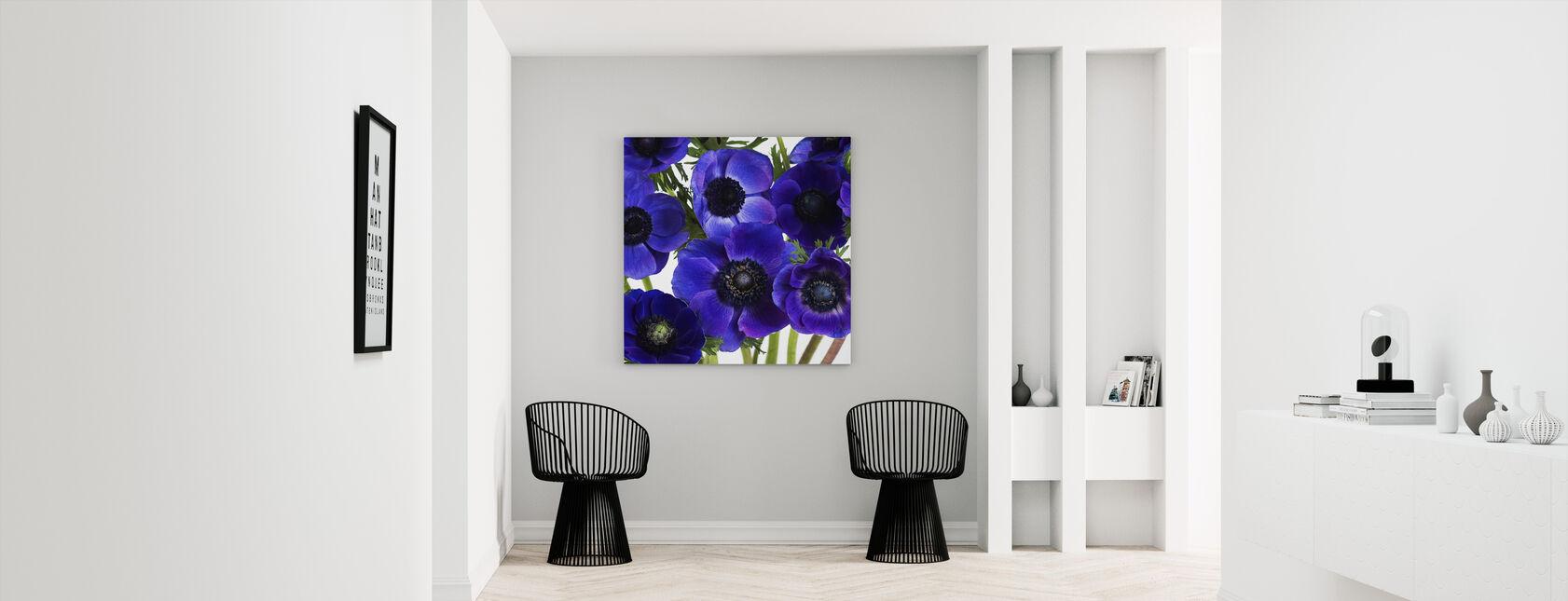 Blue Anemones - Canvas print - Hallway