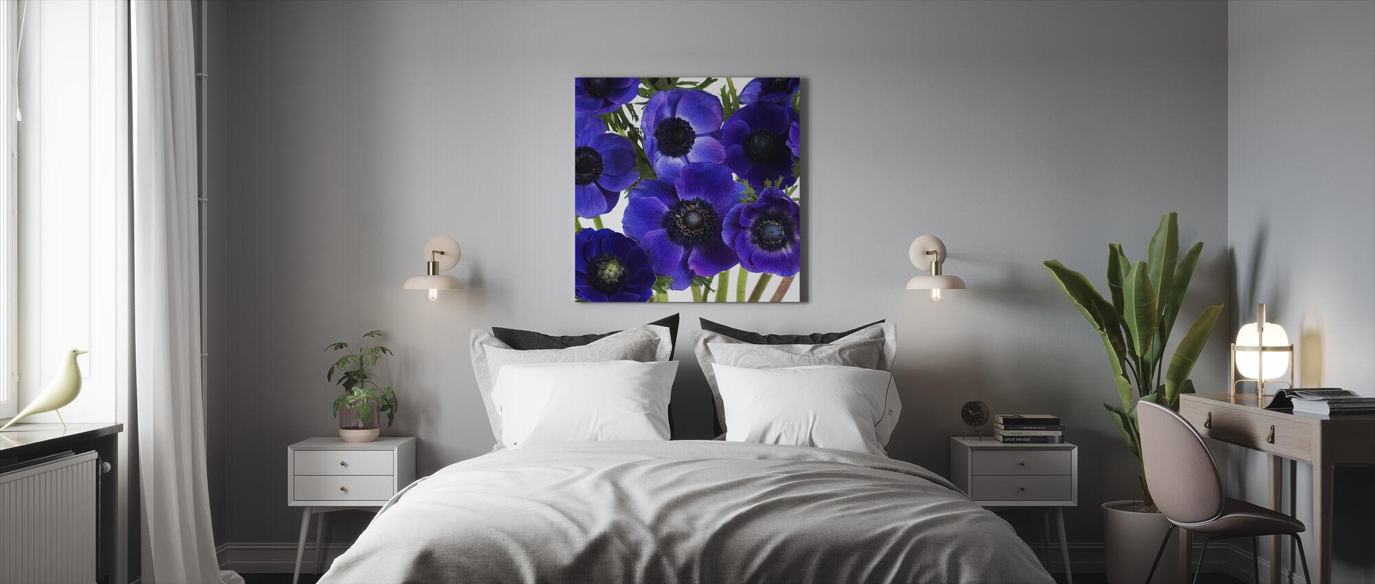 Blue Anemones - Canvas print - Bedroom