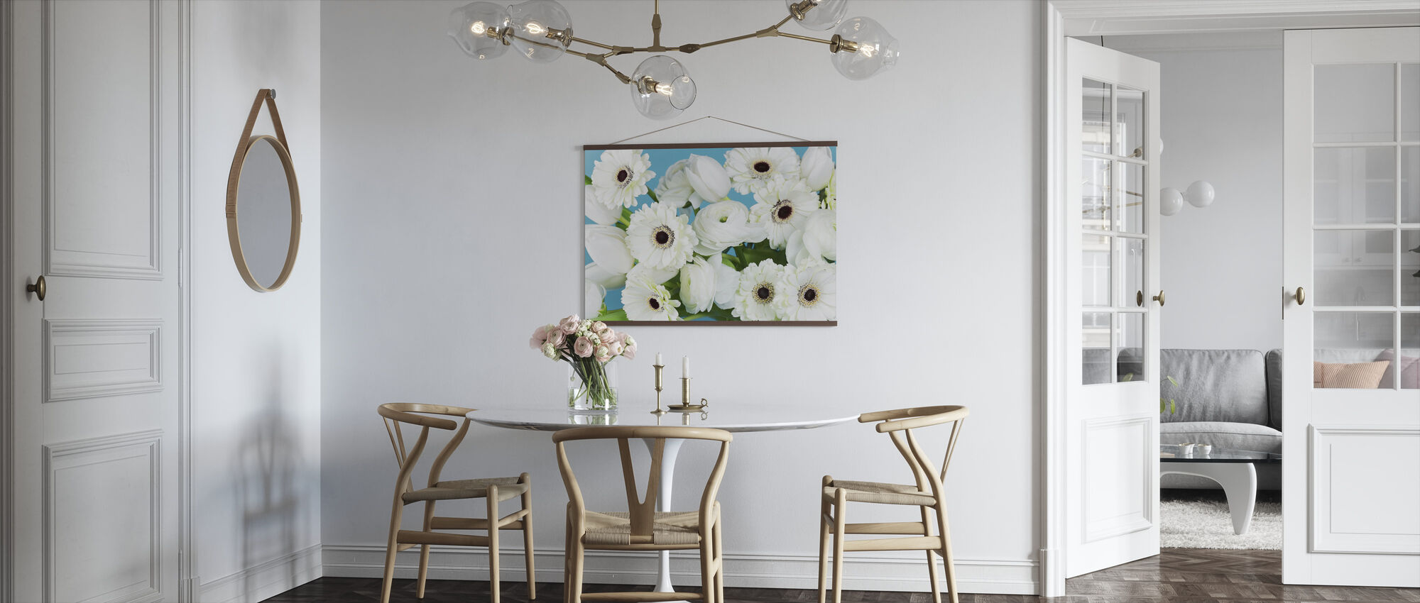 White Flowers - Poster - Kitchen
