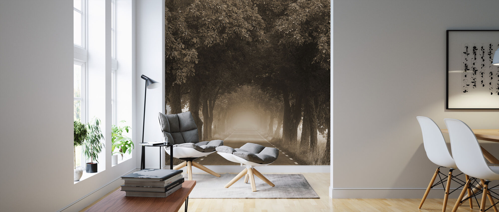 Misty Avenue - Wallpaper - Living Room