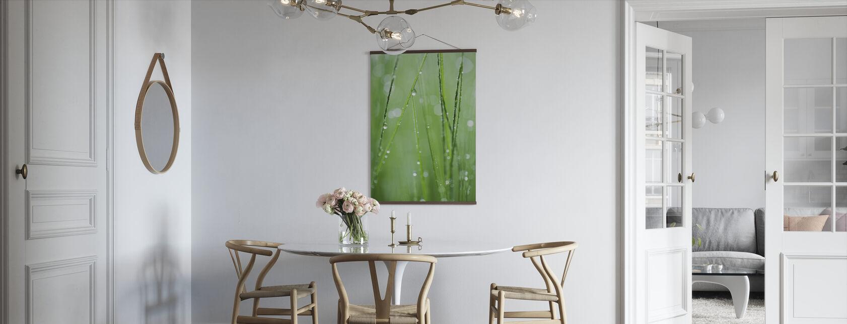 Groene formatie - Poster - Keuken
