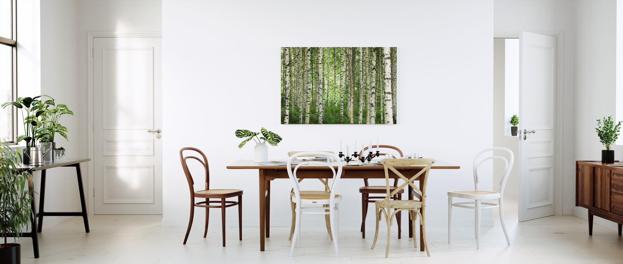 Kirkas koivu metsä - Canvastaulu - Keittiö