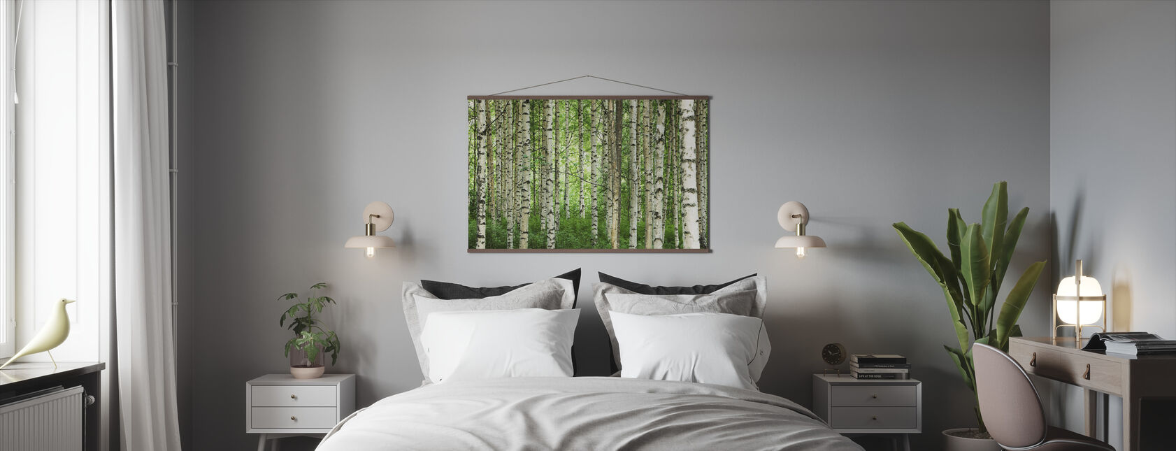 Clear Birch Forest - Poster - Bedroom