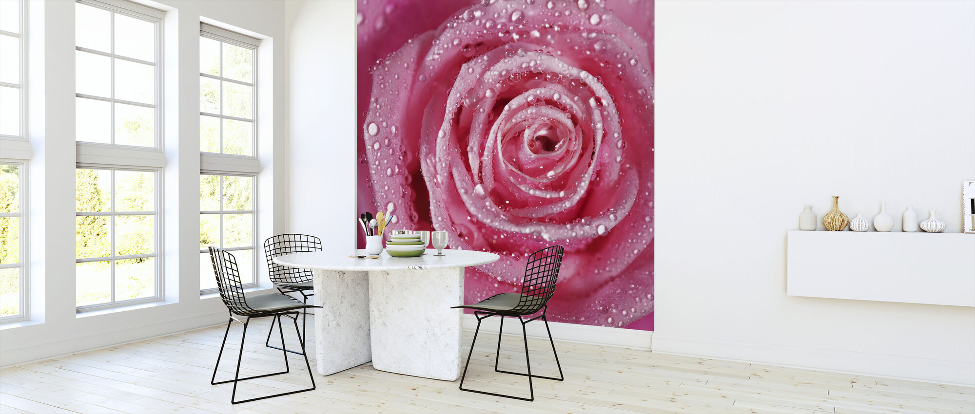 Pink Rose - Wallpaper - Kitchen