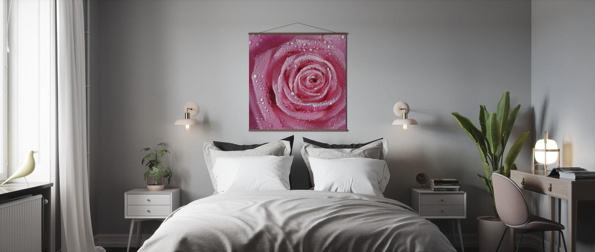 Pink Rose - Poster - Bedroom