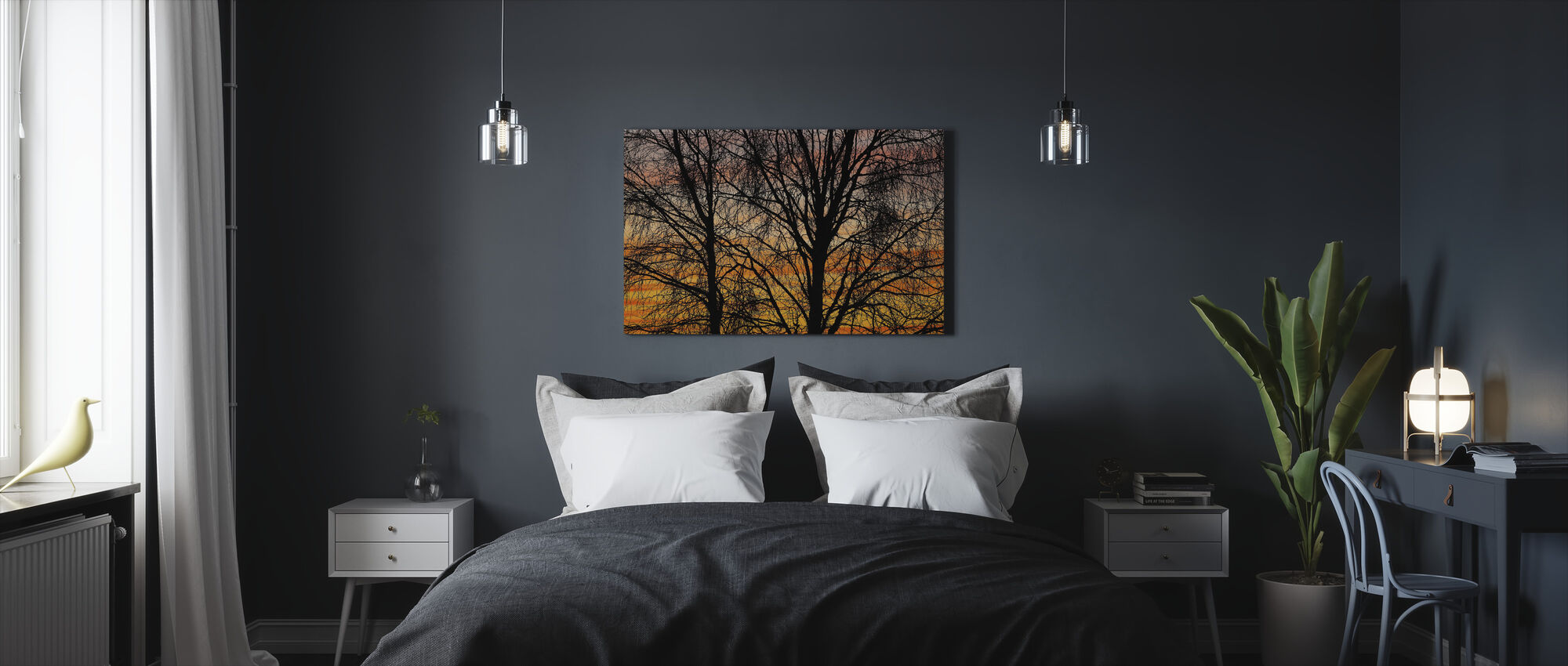 Black Branches - Canvas print - Bedroom