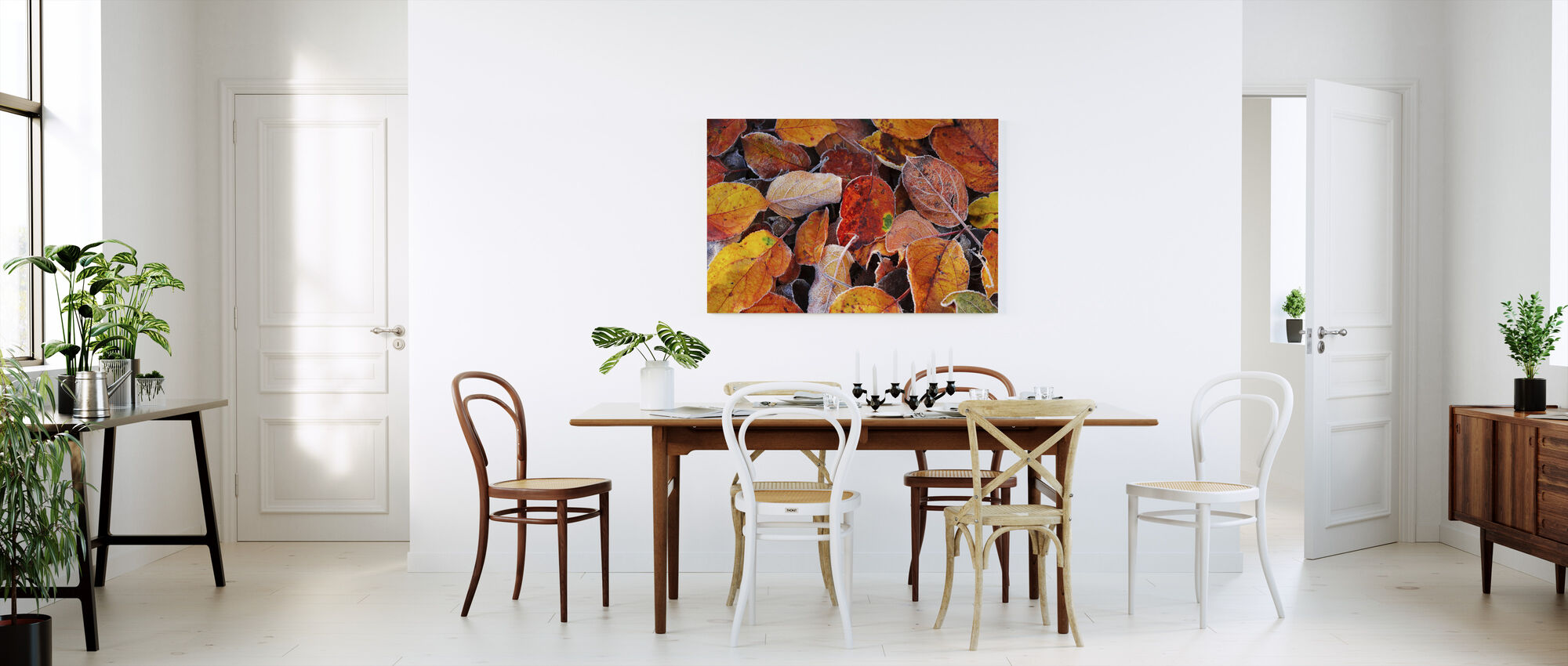 Colorful Leaves - Canvas print - Kitchen