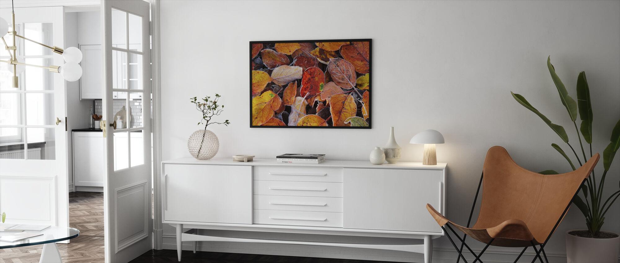 Colorful Leaves - Framed print - Living Room
