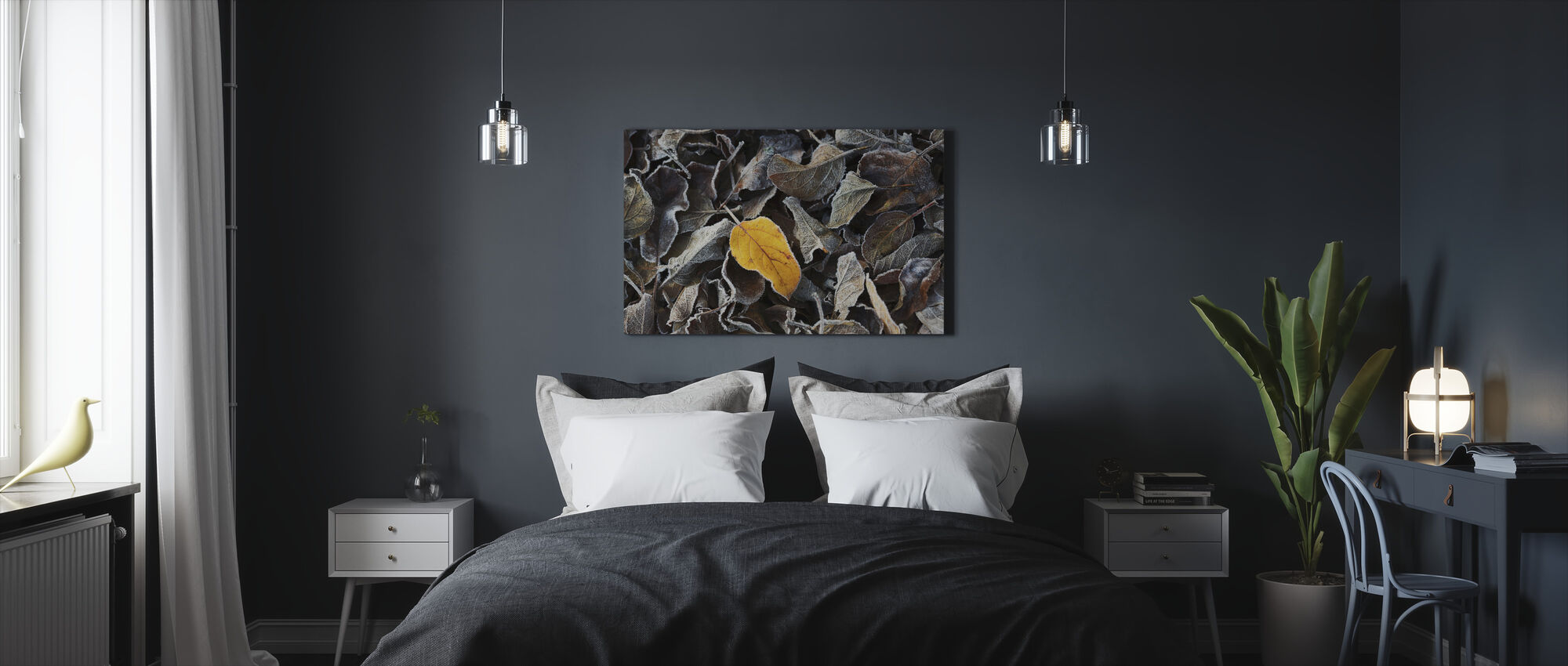 Brown and a Yellow - Canvas print - Bedroom