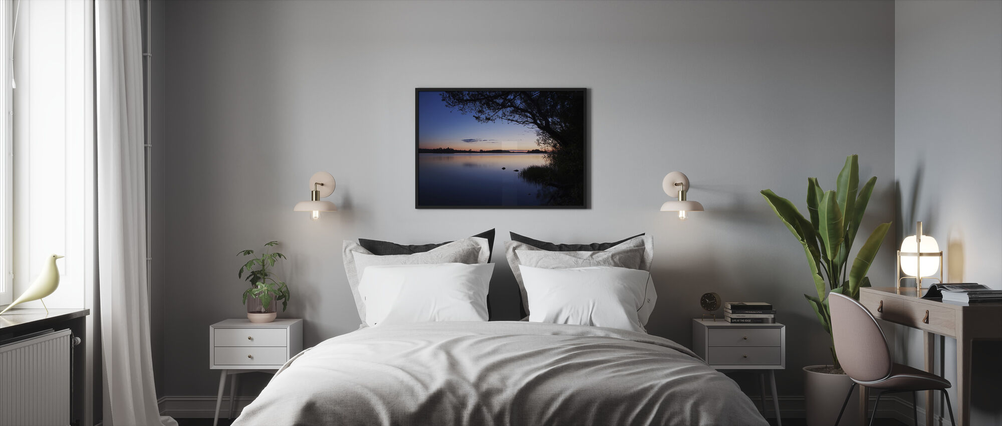 Blue Lake - Framed print - Bedroom