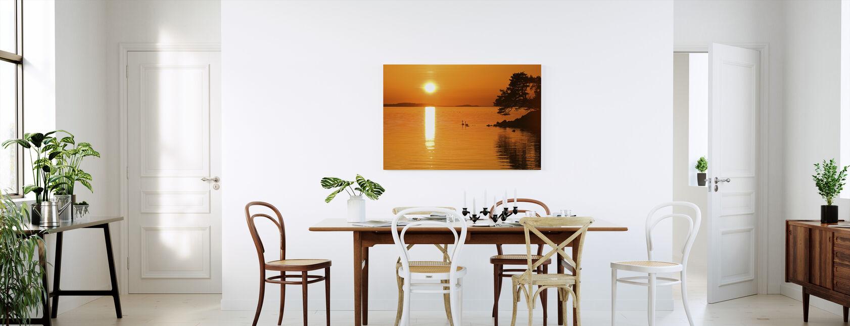 Sunrise Sjö - Canvastavla - Kök