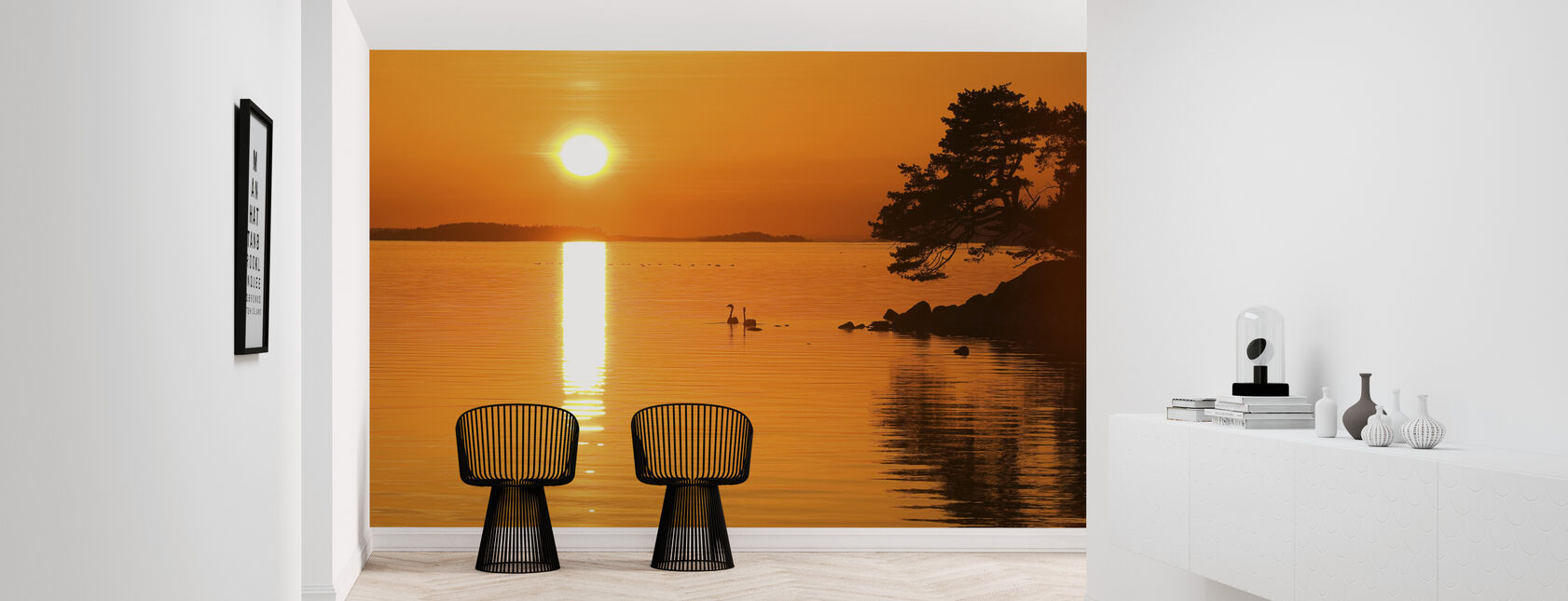 Sunrise Lake - Wallpaper - Hallway