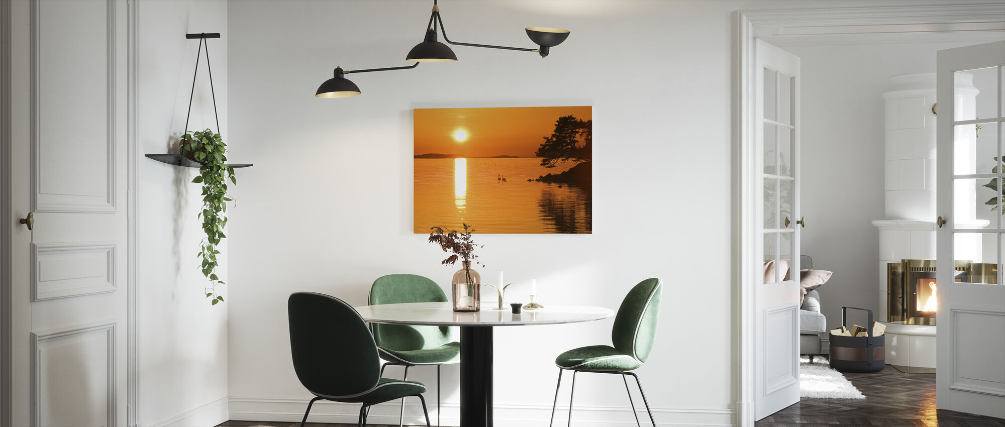 Sunrise Lake - Canvas print - Kitchen