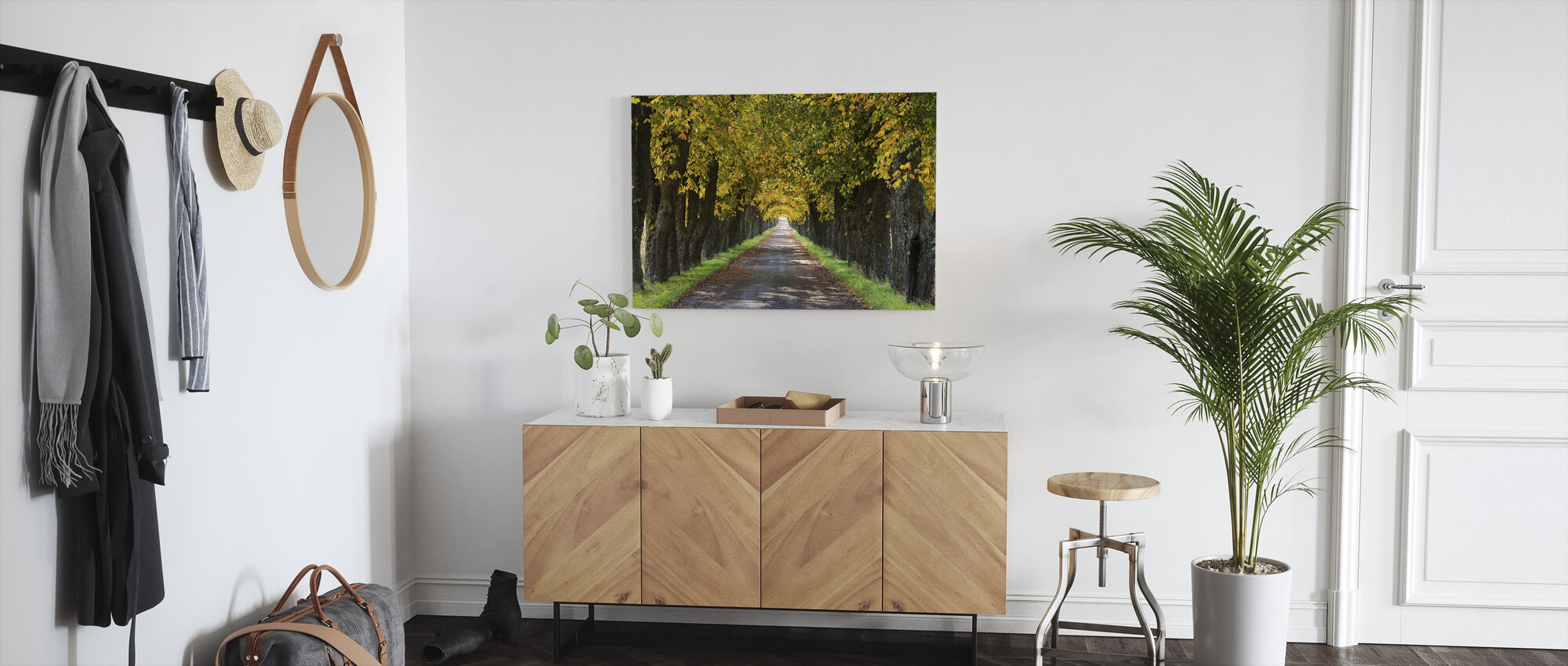 Autumn Avenue - Canvas print - Hallway