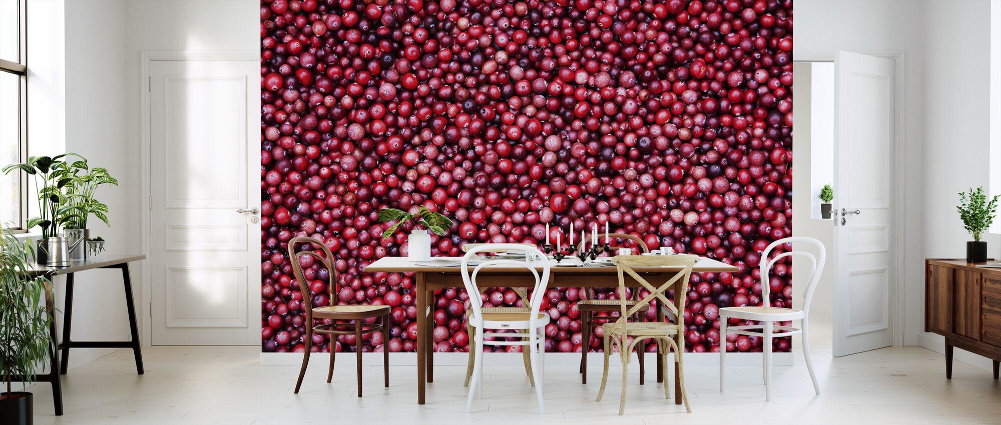 Tyttebær - Tapet - Kjøkken