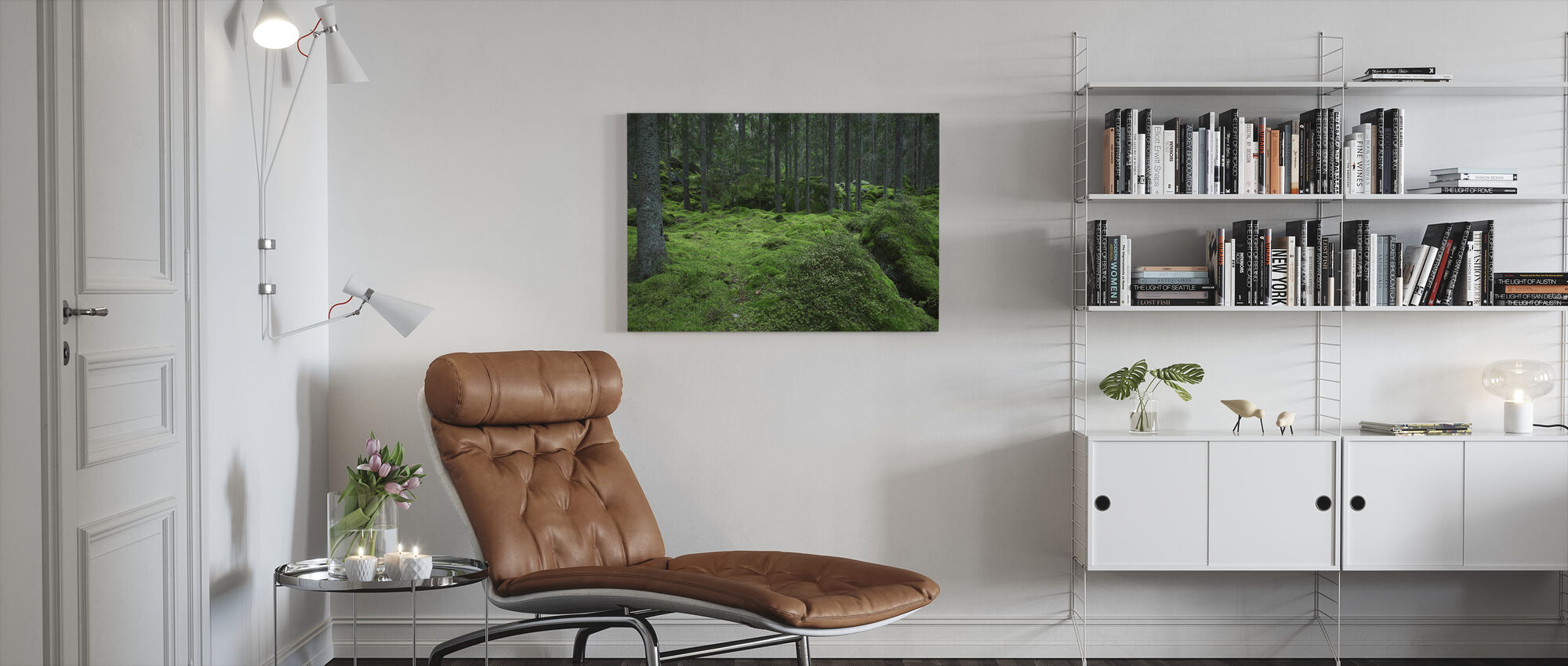 Troll skog 2 - Canvastavla - Vardagsrum