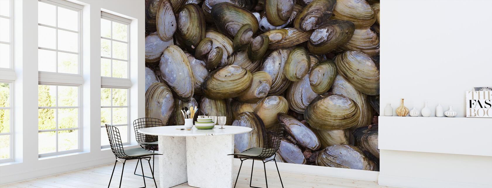 Mosselschelp - Behang - Keuken