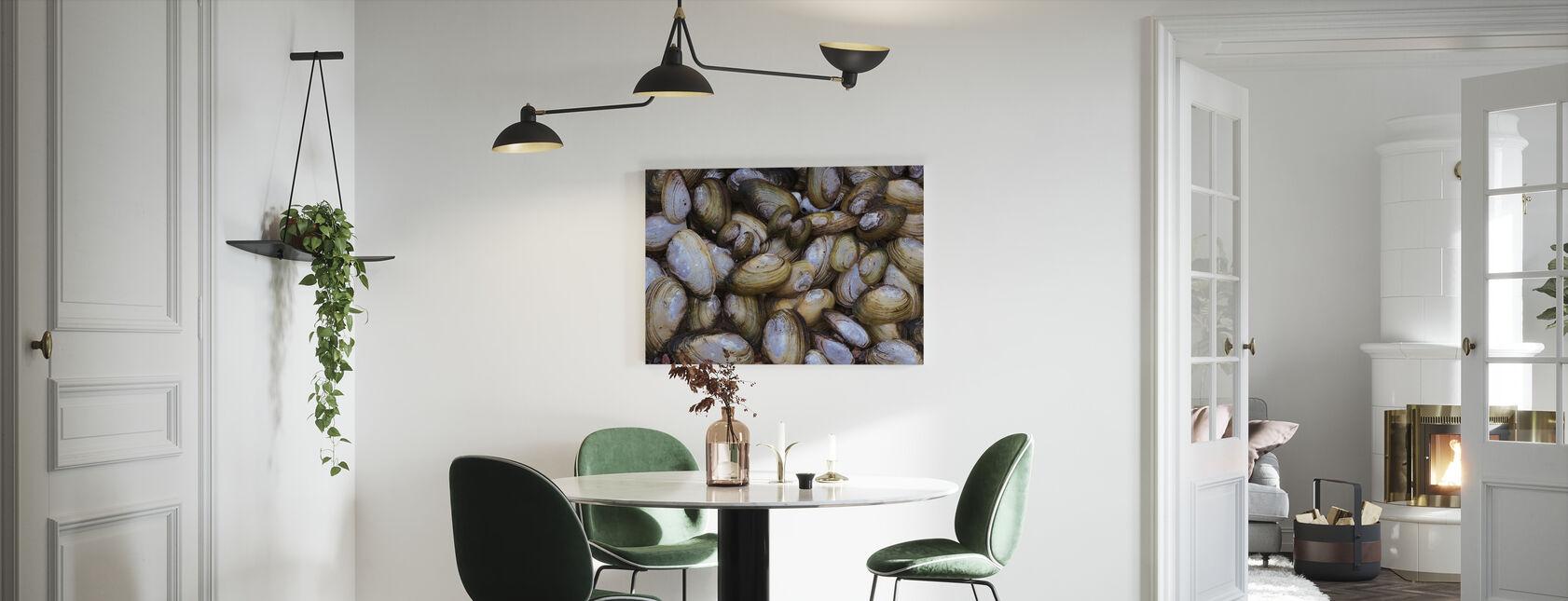 Musling Shell - Billede på lærred - Køkken