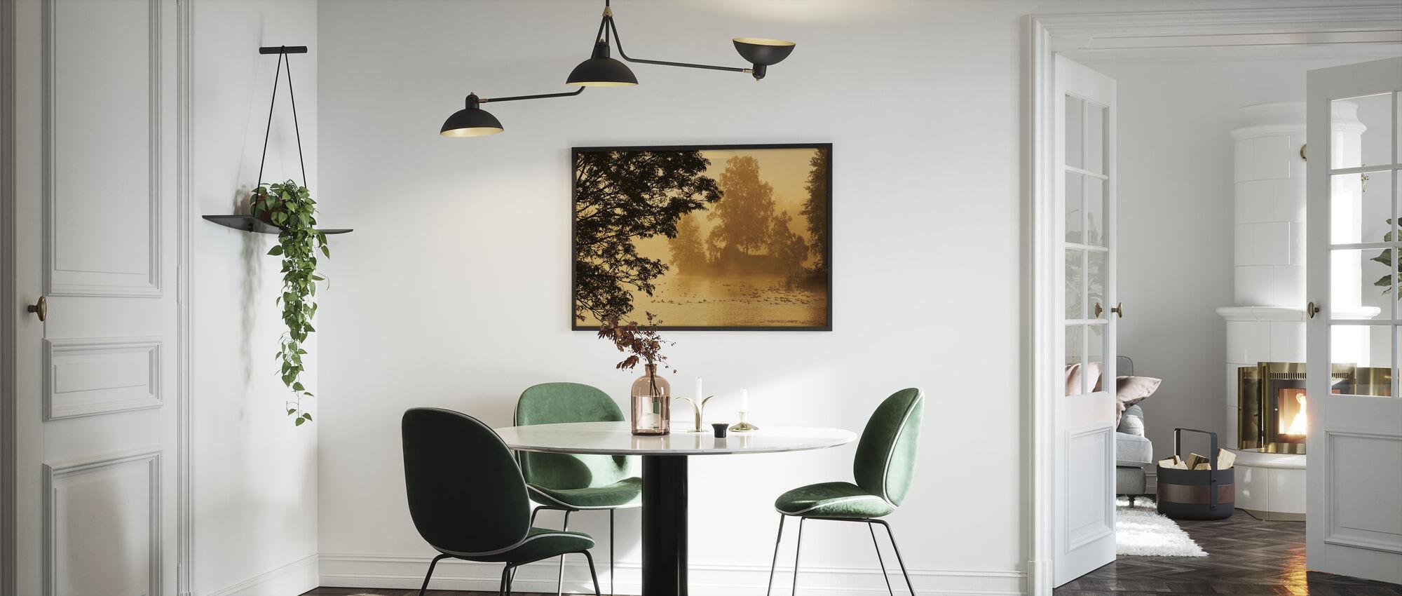 Bird Lake - Framed print - Kitchen