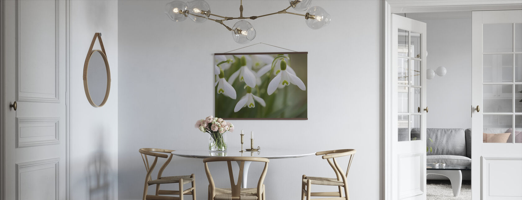 Sneeuwdruppels - Poster - Keuken