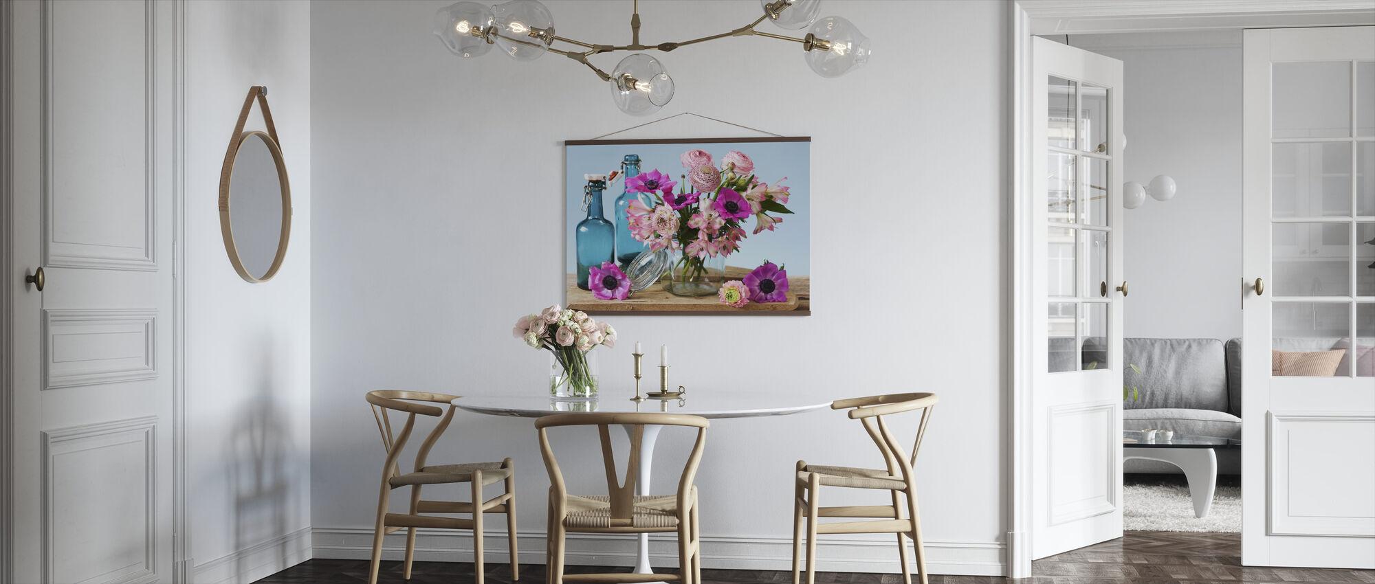Pastel Flowers - Poster - Kitchen