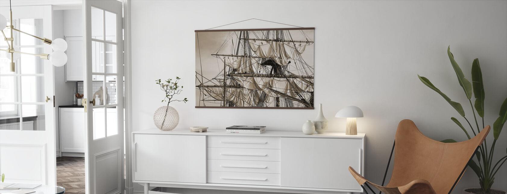 Sailing Ship - Sepia - Poster - Living Room