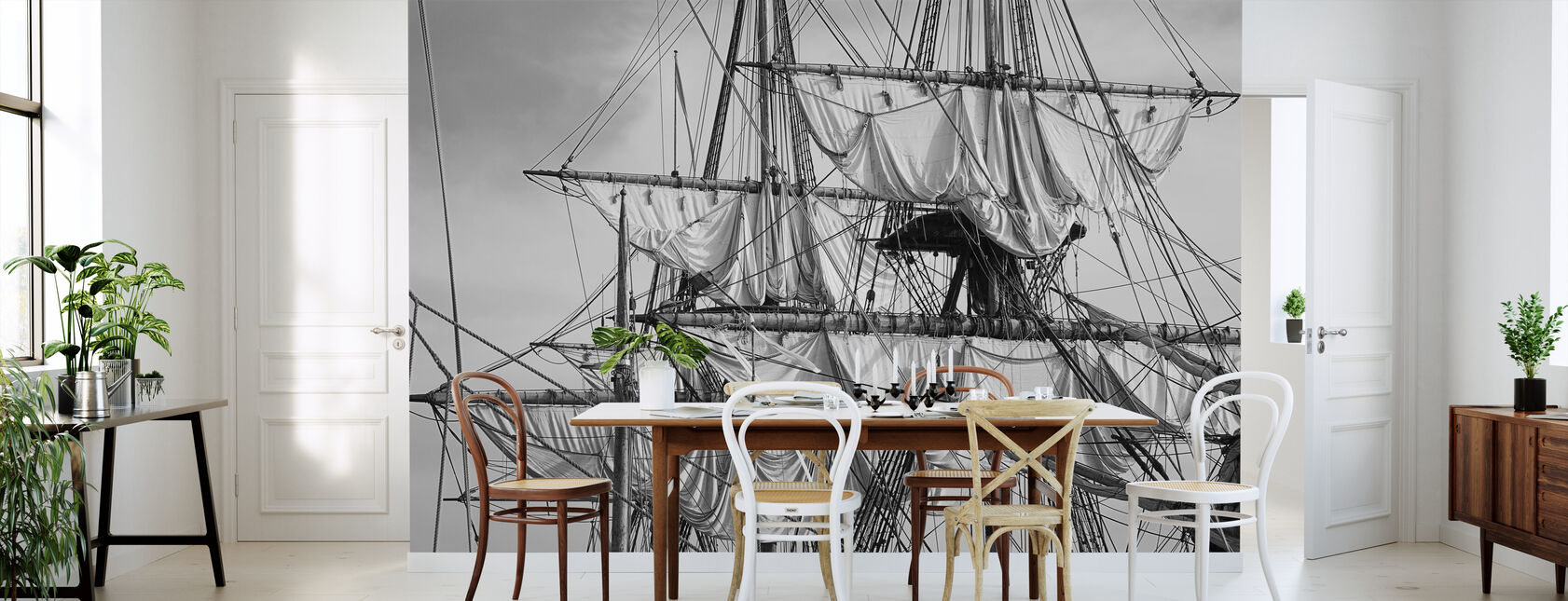 Sailing Ship - Wallpaper - Kitchen