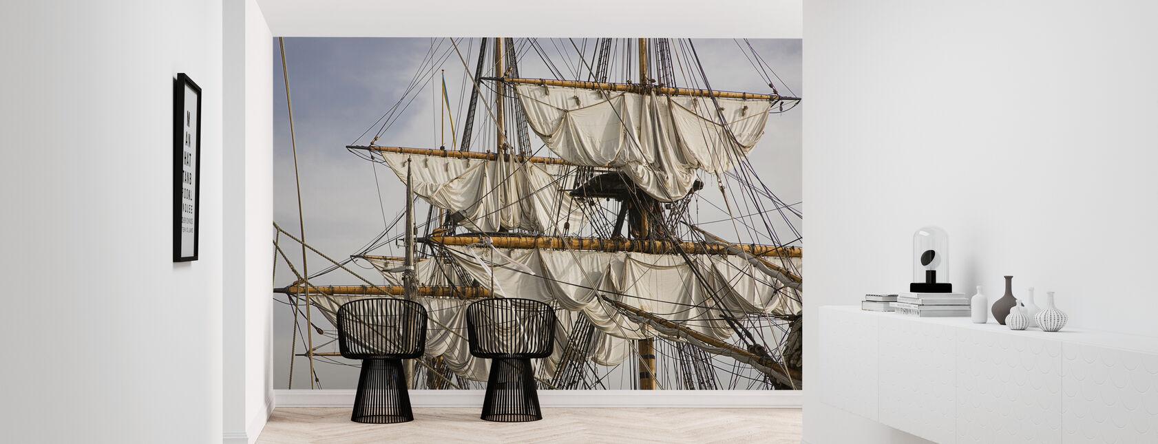 Sailing Ship - Wallpaper - Hallway