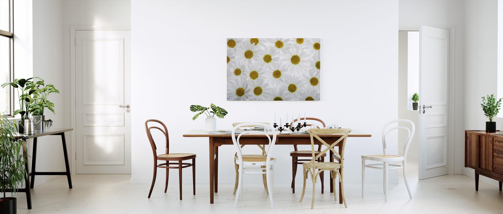 Floor of White Flowers - Canvas print - Kitchen