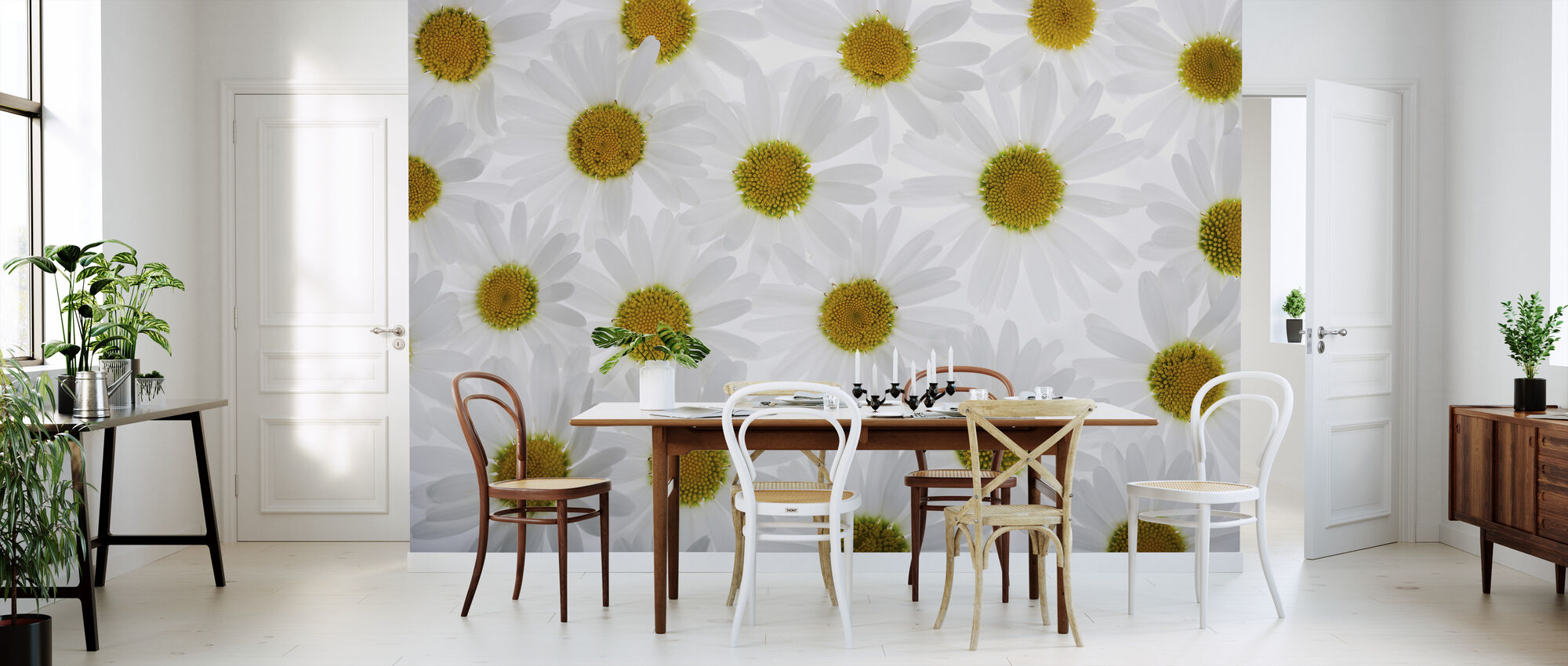 Floor of White Flowers - Wallpaper - Kitchen