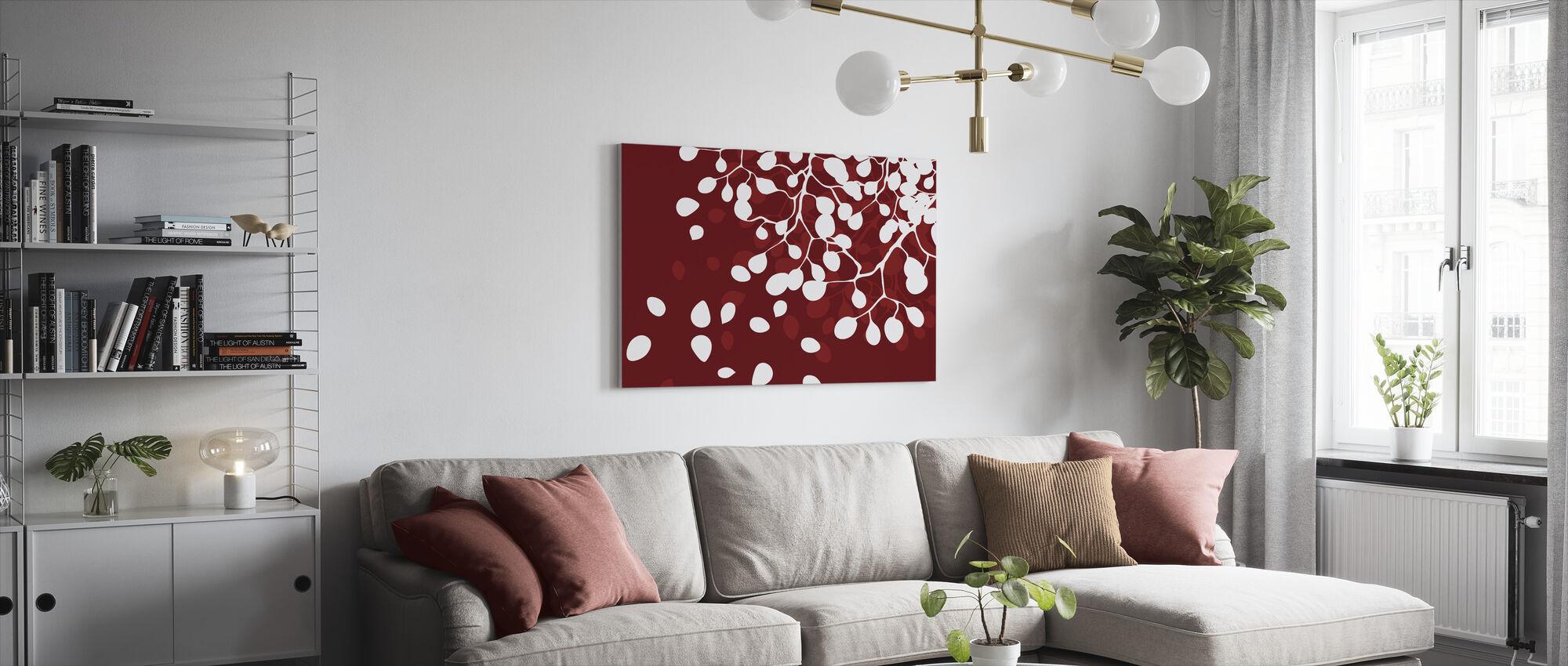 Birke - Urlaub Rot - Leinwandbild - Wohnzimmer