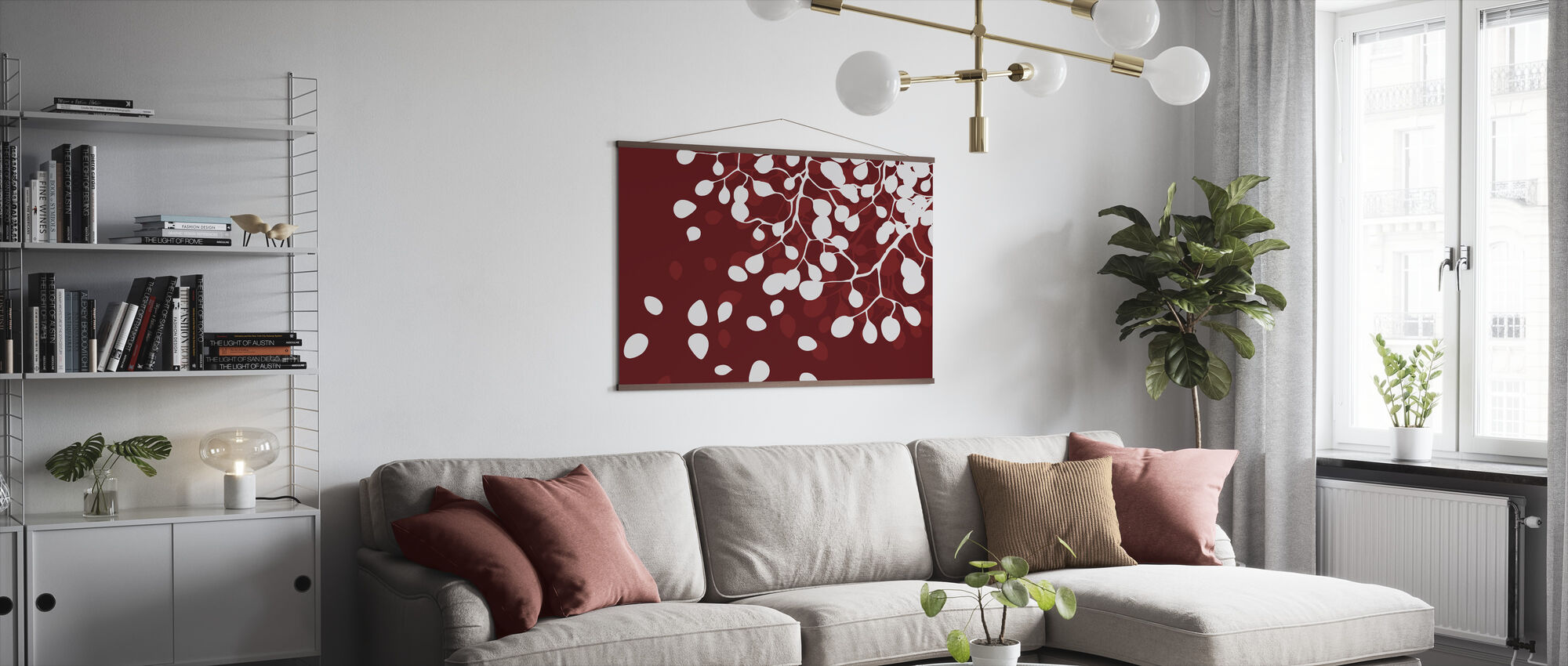 Birch - Holiday Red - Poster - Living Room